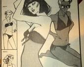 Women Two Way Bikini Swimsuit Stretch and Sew Pattern 1340 size Bust 30 32 34 36 38 40