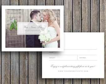 Photographer Gift Card Template - Wedding Photo Gift Card Templates - m0070