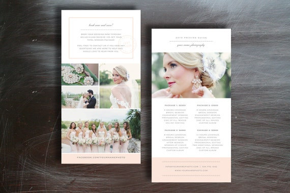 photographer pricing guide template photoshop templates for
