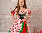 Christmas minnie dress 18 month polka dot tutu dress