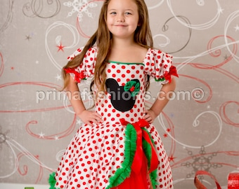 Christmas minnie dress 3t polka dot tutu dress
