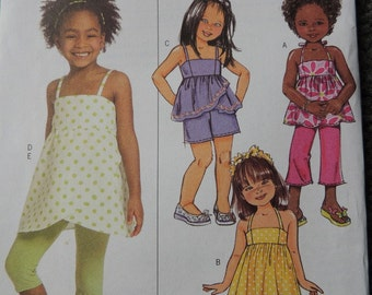 Butterick B5020 in sizes 2-3-4-5 Girls Top, Dress, Shorts, Pants and Leggings (uncut)