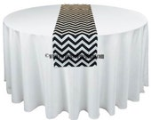 Black and White Table Runners Chevron Wedding Table Centerpiece Chevron Stripe Table Runner Linens Home Decor