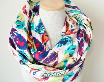 READY TO SHIP - Feathers Infinity Scarf