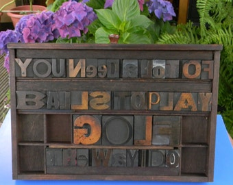 Gift for the Golfer, Collage / quotation of vintage letterpress wooden printing blocks.