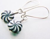 Carnival - swirl earrings - long platinum ear wires - FREE shipping WAI - affordable earrings - beautiful gifts - beach - sale - Autumn Fall