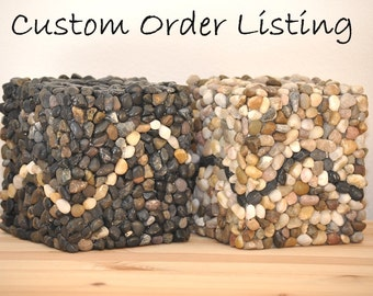 Custom Orders - Mosaic Style Pebble Tissue Box Cover