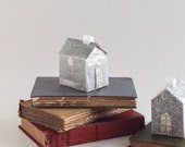 House on a Book -Man in the Moon - Altered Book - OOAK Transparent House