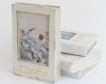Vintage Illustration / Baseball / Encaustic Altered Book