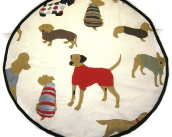 Dogs and Hounds Pouffe Foot Rest Floor Cushion Pouf