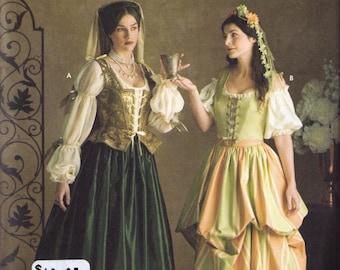 Renaissance Costume pattern Simplicity 3809 Adult sizes 10, 12, 14