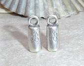 SilverSilk - Silver Pated Pewter Single End Caps SilverSilk - 1 Pair
