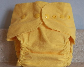Fitted Medium Cloth Diaper- 10 to 20- Canary Yellow- 18001