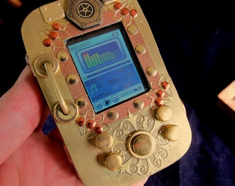 Pocket Music Library, a Steampunk MP3 player