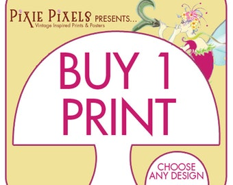 Buy Any (1) ART Print (Any Size, Design and Color Scheme) PixiePixles Prints