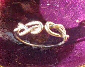 Double Infinity Love Knot Ring