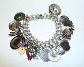 Vintage Heavy 27 Charm Sterling Silver Charm Bracelet on Etsy