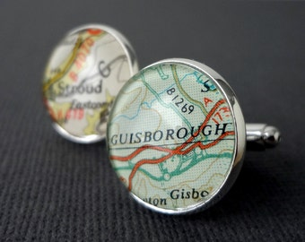 Custom Silver Cufflinks, Groomsmen Cufflinks, Wedding Cufflinks
