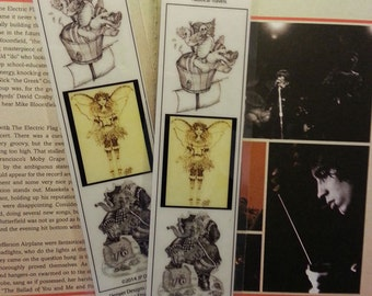 """Buddy Bookmarks: Original themed Art Work by JP Denyer with Cord Laminated """"Nautical Travels"""""""