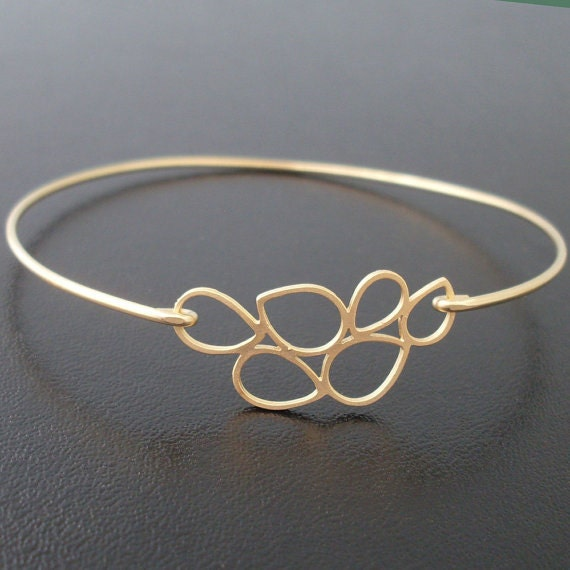 Bubble Bracelet, Lenina, Dainty Bubble Bangle, Bubble Jewelry, Bridesmaid Gold Bracelet, Bridesmaid Gold Jewelry, Cute, Delicate Gold Bangle