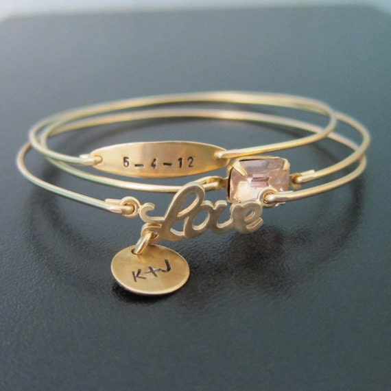 Etsy Wedding Gifts: Personalized Wedding Jewelry Personalized By FrostedWillow