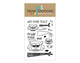 Paper Smooches Hooties Owls stamp set