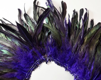 """25-30pcs Rooster Tail Feathers-Purple, 6-8"""" tall"""