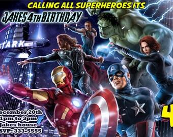 Super Hero Avengers Birthday Invitations & Party Favors