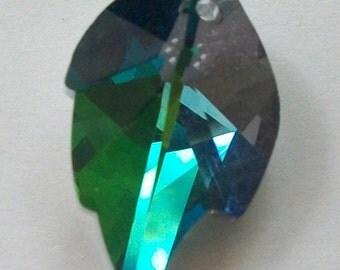 1 Celestial Crystal Pendant 25mm LEAF Crystal Pendant -- VITRAIL