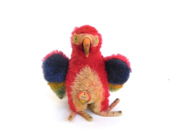 lora  ...   original vintage steiff parrot