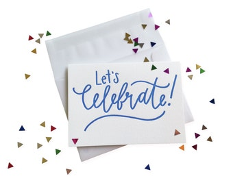 Confetti Celebrate letterpress card