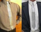 Steel Metal, Slim Necktie, Slotted Perforation in Four Styles
