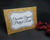 "Gold glittery food tent cards - Place cards - Food signs - ""Dijon Glitter"" by Just Scraps N Things"
