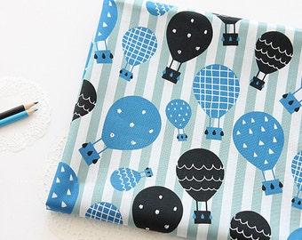 Lovely Blue Air Balloon Cotton, U075