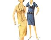 60s Shift Dress Pattern with Detachable Collar Simplicity Patterns 5410 B36 Sz 16