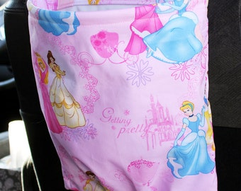 Disney Princess Car Trash Bag Reusable Auto Garbage or Storage