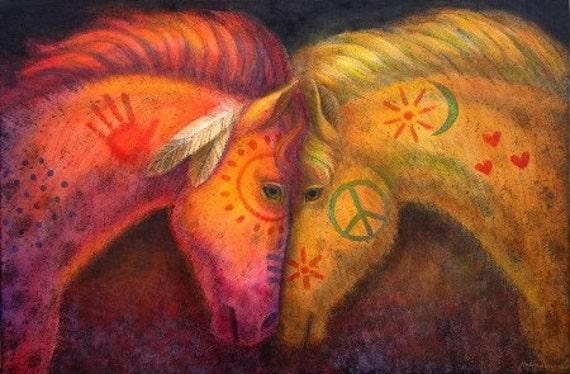 Horse Art War Amp Peace Horses Southwest Painted Pony Artwork