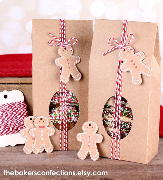 Christmas treat boxes kit with kraft brown bakers