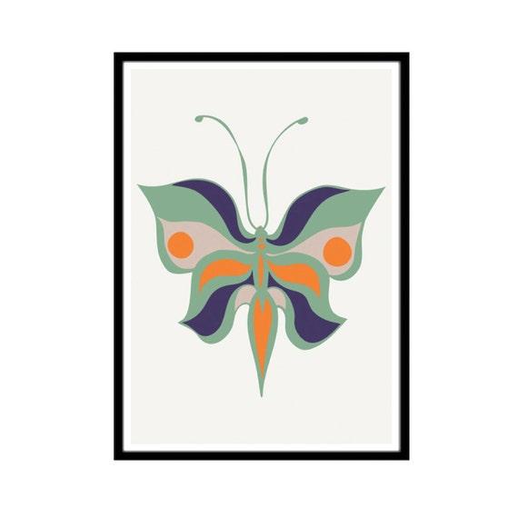 Minimalist Butterfly Art   Modern Nursery   Papillon Print