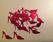 50 pc Red Paper High Heel Shoes  Bridal Shower  Birthday  Luncheon