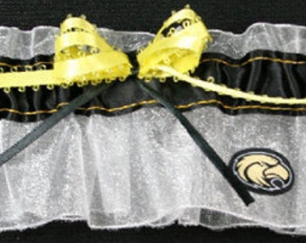 Southern Mississippi Golden Eagles Wedding Garter, Handmade, Can Be Personalized
