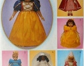 """18"""" Doll Storybook Theme Costumes Sewing Pattern McCalls 9671 Snow White Red Riding Hood Cinderella princess"""