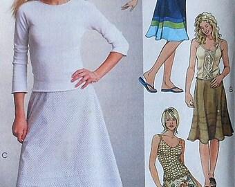 Skirt Sewing Pattern UNCUT McCalls 4306 Sizes 6-12