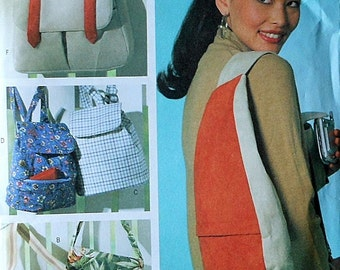 Backpack and Messenger Bag Sewing Pattern UNCUT Butterick B4147