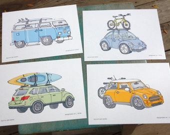 Road Trip postcards (set of 4)