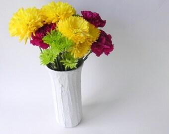 White Vase / 9 inch vase /  white home decor / neutral home decor / minimalist home decor