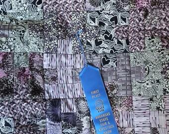 Award Winning Purple and Black Baby Quilt