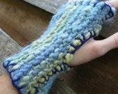 Gooshy Mitts - Handdyed, handspun mitts
