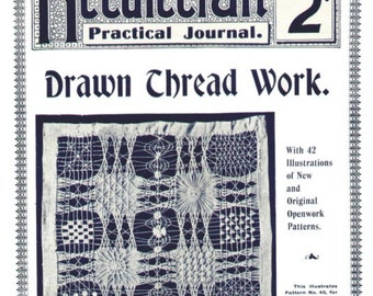 Drawn Thread Lessons Needlecraft Practical Journal No. 25 Second Series Digital Download