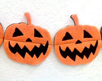 Halloween Pumpkin Banner Jack O Lantern Pumpkin Banner Garland